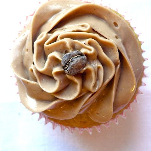 Grain-free Vanilla Bean Cupcakes with Mocha Buttercream