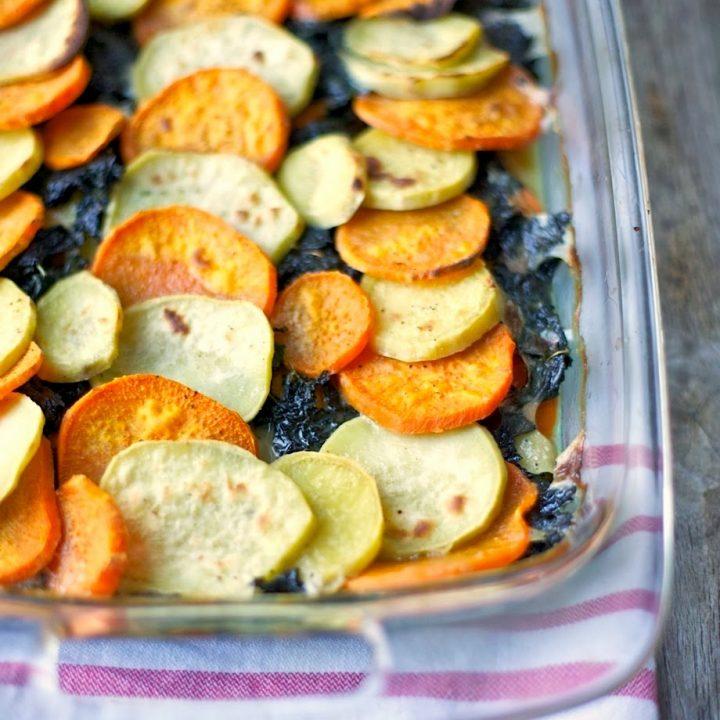 Sweet Potato & Kale Gratin (Whole30)