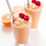 Orange Peach Raspberry Smoothie (Paleo, Vegan)