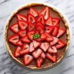 Mocha Ricotta Pie with Strawberries (Gluten free, Grain free)