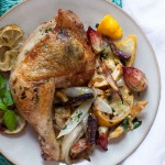 Basil Lime Chicken with Roasted Vegetables | acalculatedwhisk.com