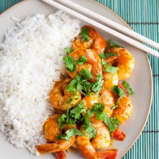 Curry Butter Shrimp (Paleo, Gluten free)