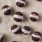 Chocolate Peppermint Sandwich Cookies (Grain free)