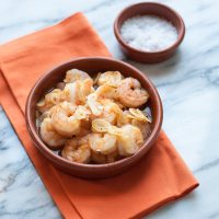 Gambas al Ajillo--Sizzling Garlic Shrimp