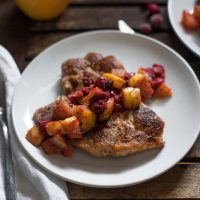 Pork Chops with Cranberry-Apple Compote