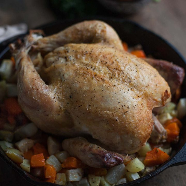 Simple Roast Chicken with Fall Vegetables