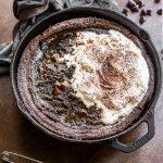Chocolate Paleo Dutch Baby made with almond flour